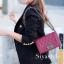 พร้อมส่ง กระเป๋าสะพายข้างผู้หญิง CN คาเวียร์ 8 นิ้ว (ก้านแก้ว) [สีแดง ] thumbnail 2
