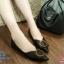 พร้อมส่ง รองเท้าคัชชูส้นเตี้ย 555-2-BLK [สีดำ] thumbnail 1