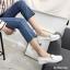 พร้อมส่ง รองเท้าคัทชูส้นเตี้ย N0119D4-WHI [สีขาว] thumbnail 2