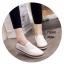 พร้อมส่ง รองเท้าผ้าใบหนังอย่างดี F58G1-WHI [สีขาว] thumbnail 1