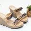 พร้อมส่ง รองเท้าส้นเตารีดแบบสวยเท่ 13-60-KHA [สีกากี] thumbnail 1