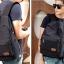 พร้อมส่ง กระเป๋าเป้ผู้ชายผ้าแคนวาส-BAG-016 [สีดำ] thumbnail 3