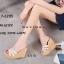 พร้อมส่ง รองเท้าส้นเตารีด สไตล์แบรนด์ดัง 17-2285-ครีม [สีครีม] thumbnail 3