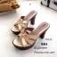 พร้อมส่ง รองเท้าส้นสูงหน้าสาน 7715-12-ทอง [สีทอง] thumbnail 1