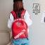 พร้อมส่ง กระเป๋าเป้แฟชั่นนำเข้าลายไม้สไตล์แบรนด์ดัง [สีแดง] thumbnail 2
