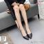 พร้อมส่ง รองเท้าคัชชูผู้หญิง หนังลายวัว K9080-BLK [สีดำ] thumbnail 1