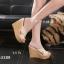 พร้อมส่ง รองเท้าส้นเตารีด สไตล์เกาหลี 17-2288-CRM [สีครีม] thumbnail 1