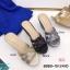 พร้อมส่ง รองเท้าส้นเตารีดแบบสวม 8980-15-GRA [สีเทา] thumbnail 4