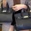 พร้อมส่ง กระเป๋าสะพายข้างผู้หญิง Birkin PU 25 cm [สีดำ] thumbnail 2