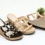 พร้อมส่ง รองเท้าส้นเตารีดแบบสวมสวยเท่ 13-57-BLK [สีดำ] thumbnail 2