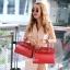 พร้อมส่ง กระเป๋าสะพายข้างผู้หญิง Birkin PU 25 cm [สีแดง ] thumbnail 4