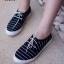 พร้อมส่ง รองเท้าผ้าใบแฟชั่น F59088-BLK [สีดำ] thumbnail 1