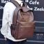 พร้อมส่ง กระเป๋าเป้หนังผู้ชาย- BAG-006 [สีน้ำตาล] thumbnail 2