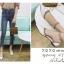 พร้อมส่ง รองเท้าคัทชูส้นแบน สไตล์Valentino G-1169-WHI [สีขาว] thumbnail 2