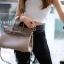 พร้อมส่ง กระเป๋าสะพายข้างผู้หญิง BK super 25 cm [สีกากี] thumbnail 1