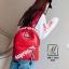 พร้อมส่ง กระเป๋าเป้แฟชั่นนำเข้าลายไม้สไตล์แบรนด์ดัง [สีแดง] thumbnail 4
