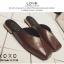 พร้อมส่ง รองเท้าแตะงานสวม หน้าตัด G-1190-BWN [สีน้ำตาล] thumbnail 2
