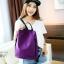 พร้อมส่ง กระเป๋าเป้ผ้าไนล่อน-BAG-012 [สีม่วง] thumbnail 5