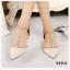 พร้อมส่ง รองเท้าส้นเเบนหนังเเก้ว 919-5-CRE [สีครีม] thumbnail 1