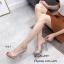 พร้อมส่ง รองเท้าส้นสูง แบบสวม หน้าใสส้นใส 816-3-กากี [สีกากี] thumbnail 1