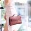 พร้อมส่ง กระเป๋าสะพายข้างผู้หญิง Mini Kelly Crocodile [สีช็อกโกแลต] thumbnail 2