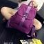 พร้อมส่ง กระเป๋าเป้ผู้หญิงผ้าไนล่อน-BAG-013 [สีม่วง] thumbnail 5