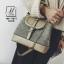 กระเป๋าสะพายกระเป๋าถือ แฟชั่นนำเข้าสุดหรู ทรงฝาปิดสไตล์แบรนด์ดัง MB-17071-GLD [สีทอง] thumbnail 4
