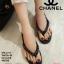 พร้อมส่ง รองเท้าแตะคีบสายโซ่ J317-BLK [สีดำ] thumbnail 1