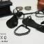 พร้อมส่ง รองเท้าส้นเตี้ย โซ่ยาว G-1114-BLK [สีดำ]