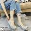 พร้อมส่ง คัชชูพื้นนิ่มหน้าโบว์ VB19018- [สีเทา] thumbnail 4
