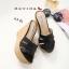 พร้อมส่ง รองเท้าส้นเตารีด สไตล์เกาหลี zevida 17-2285-BLK [สีดำ] thumbnail 3