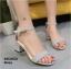 รองเท้าส้นตันรัดส้น เพิ่มสายรัดข้อเท้า [สีเทา ] thumbnail 3