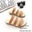 รองเท้าแตะลำลองวัสดุหนังนิ่ม คาด3 สาย 961-59-ตาล (สีน้ำตาล) thumbnail 2