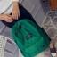 พร้อมส่ง กระเป๋าเป้ผู้หญิงผ้าไนล่อนสีสดใส-BAG-014 [สีเขียว] thumbnail 4