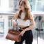 พร้อมส่ง กระเป๋าสะพายข้างผู้หญิง BK super 25 cm [สีน้ำตาล]