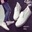 พร้อมส่ง รองเท้าผ้าใบแฟชั่นงานหนังอย่างดี GS6071C3-WHI [สีขาว] thumbnail 1