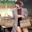 พร้อมส่ง กระเป๋าสะพายข้างผู้หญิง Birkin PU 25 cm [สีน้ำตาล] thumbnail 3