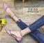 พร้อมส่ง รองเท้าคัทชูส้นแบน สไตล์Valentino G-1169-PNK [สีชมพู] thumbnail 1