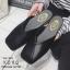 พร้อมส่ง รองเท้าแตะงานสวม หน้าตัด G-1190-BLK [สีดำ] thumbnail 2