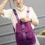 พร้อมส่ง กระเป๋าเป้ผู้หญิงผ้าไนล่อน-BAG-013 [สีม่วง] thumbnail 4
