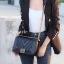 พร้อมส่ง กระเป๋าสะพายข้างผู้หญิง New CN BOY 10นิ้ว [สีดำ] thumbnail 4