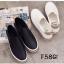พร้อมส่ง รองเท้าผ้าใบหนังอย่างดี F58G1-WHI [สีขาว] thumbnail 5
