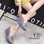 พร้อมส่ง รองเท้าส้นเตารีดแบบสวม 8980-15-GRA [สีเทา] thumbnail 2