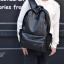 พร้อมส่ง กระเป๋าเป้หนังผู้ชาย-BAG-007 [สีดำ] thumbnail 5