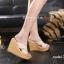 พร้อมส่ง รองเท้าส้นเตารีด สไตล์เกาหลี 17-2288-CRM [สีครีม] thumbnail 4