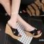 พร้อมส่ง รองเท้าสไตล์สวมส้นเตารีด 17-2288C5-BLK [สีดำ] thumbnail 4