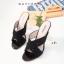 พร้อมส่ง รองเท้าส้นสูง สไตล์สวมงานเกาหลี 17-2291D2-BLK [สีดำ] thumbnail 1
