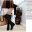 พร้อมส่ง รองเท้าบูทยาว ส้นเตารีด G-722-BLK [สีดำ] thumbnail 1