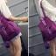 พร้อมส่ง กระเป๋าเป้ผู้หญิงผ้าไนล่อน-BAG-013 [สีม่วง] thumbnail 3