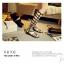 พร้อมส่ง รองเท้าแกดิเอเตอร์ รุ่นยาว ทรงเปิด ส้นแบน G-953-BLK [สีดำ] thumbnail 1